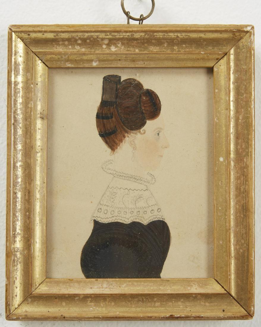 Two Rufus Porter Miniature Portraits