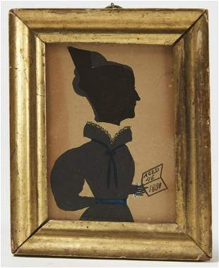 Miniature Portrait of a Lady with Book 1830