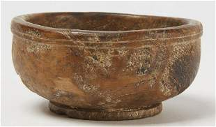 Good Early Small Footed Burl Bowl