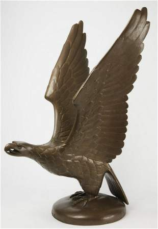 Large Carved and Painted Court House Eagle