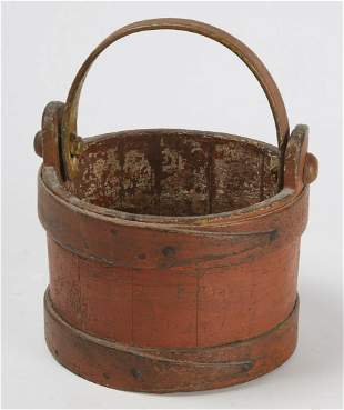Early Bucket in Old red Paint