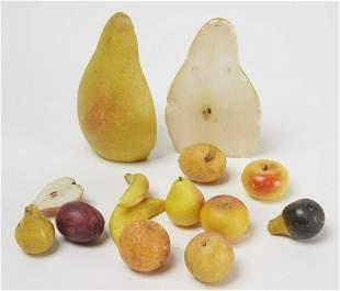 Lot of Alabaster Fruit