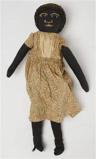 Black Rag Doll with Painted Face