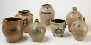 7 Pieces of American Stoneware