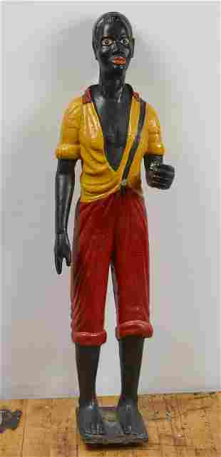 Rare Life Size Hitching Post Figure of a Black Boy