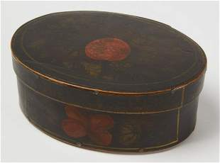 Oval Paint-Decorated Box