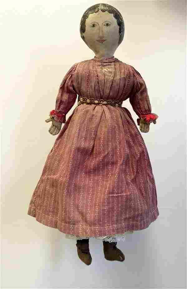 Lead Very Fine Early Cloth Doll