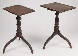 Two Painted Maine Candlestands