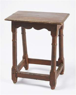 Rare New England Painted Joint Stool