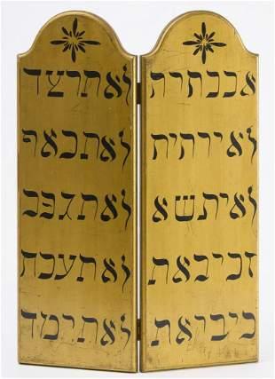 Odd Fellows 10 Commandments Painted Tablet