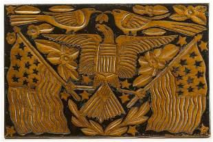 Folk Art Carved Spanish-American War Carved Panel