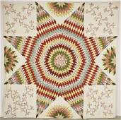 Very Fine Early Chintz Star Quilt