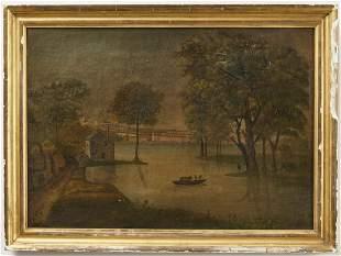 Society Hill Philadelphia Oil on Canvas