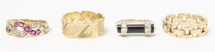 Four Ladies 14k Gold Rings