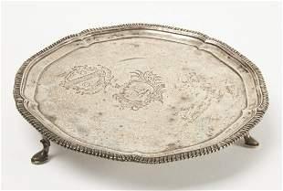 18th Century Silver Scottish Salver