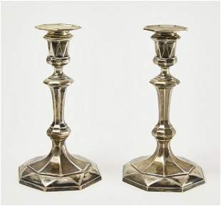Pair of Crichton Bros. Sterling Candlesticks