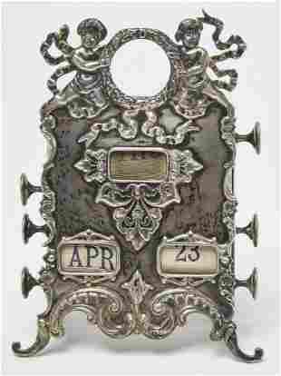 Sterling Calendar & Watch Holder