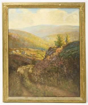 Robert Hamilton - Sheep in a Mountain Scene