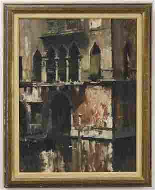 "Edward Seago ""On a Single Canal, Venice"""