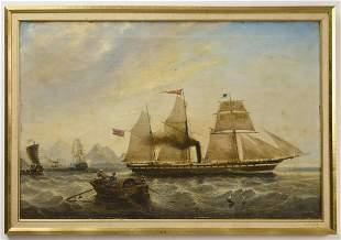 Ship Painting by J. Scott 1857