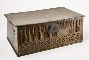 Early Carved Bible Box