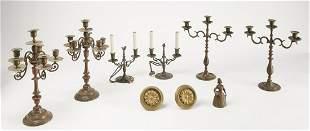 Brass Candelabras & More