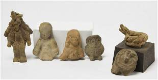 Lot of 6 Pre-Columbian Pottery Objects