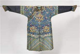 Antique Asian Brocade Silk Dragon Kimono