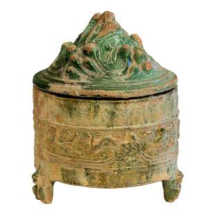 Chinese Pottery Covered Hill Jar