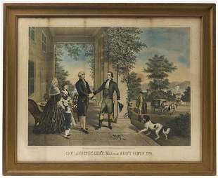 Lafayette's departure Mt. Vernon chromolithograph