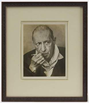 Framed Autographed Photo - Igor Stravinsky