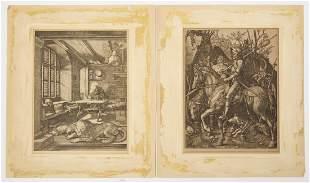 Two Albrecht Durer Etchings plus 1 Print