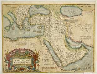 Map - Abraham Ortelius Imperial Turkey 1573
