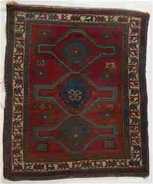 Antique Caucasian Oriental Carpet