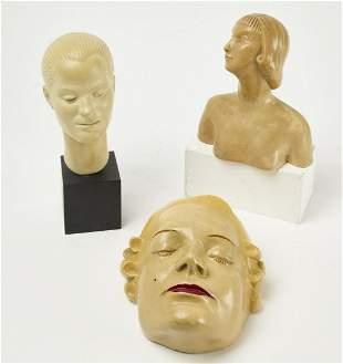 Three Art Deco Display Heads