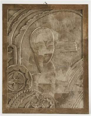 Art Deco Carved Panel
