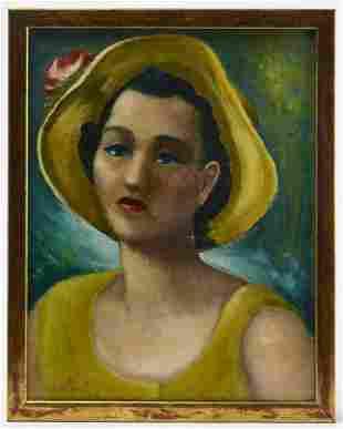 Portrait signed Elizabeth Kraft 1958