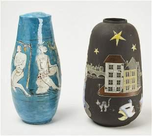 Two Large Modern Ceramic Vases