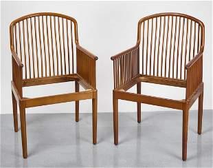 Pair Knoll Arm Chairs - Davis Allen