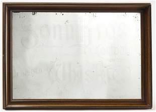 Sonn Bros Whiskey Advertising Mirror
