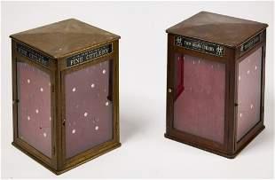 Pair of Vintage Henckel Display Cases
