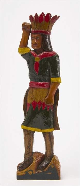 Folk Art Carved Indian Figure