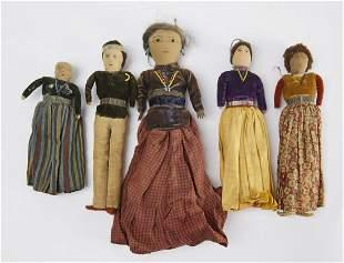 Lot of 8 Old Navajo Dolls