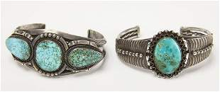 Two Navajo Turquoise Bracelets