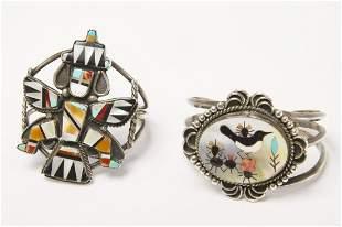 Two Zuni Inlaid Bracelets