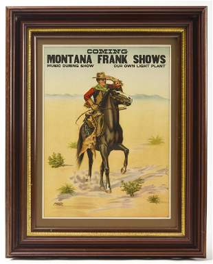Montana Frank Shows Poster