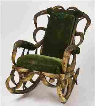 Horn Rocking Chair