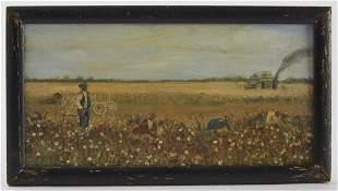 Picking Cotton - Oil on Panel