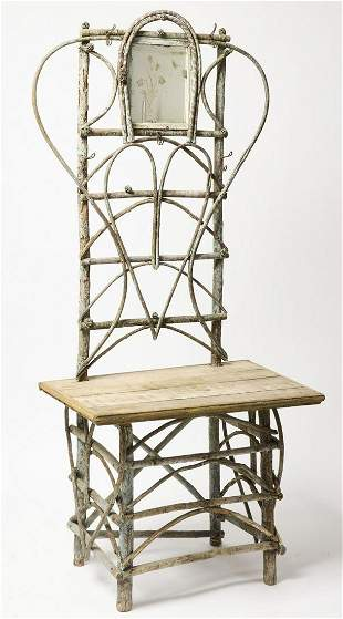 Rustic Hall Stand in blue Plaint