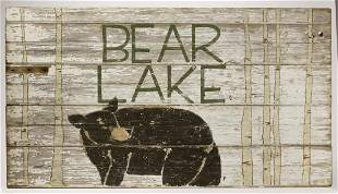 Bear Lake Vintage Camp Sign